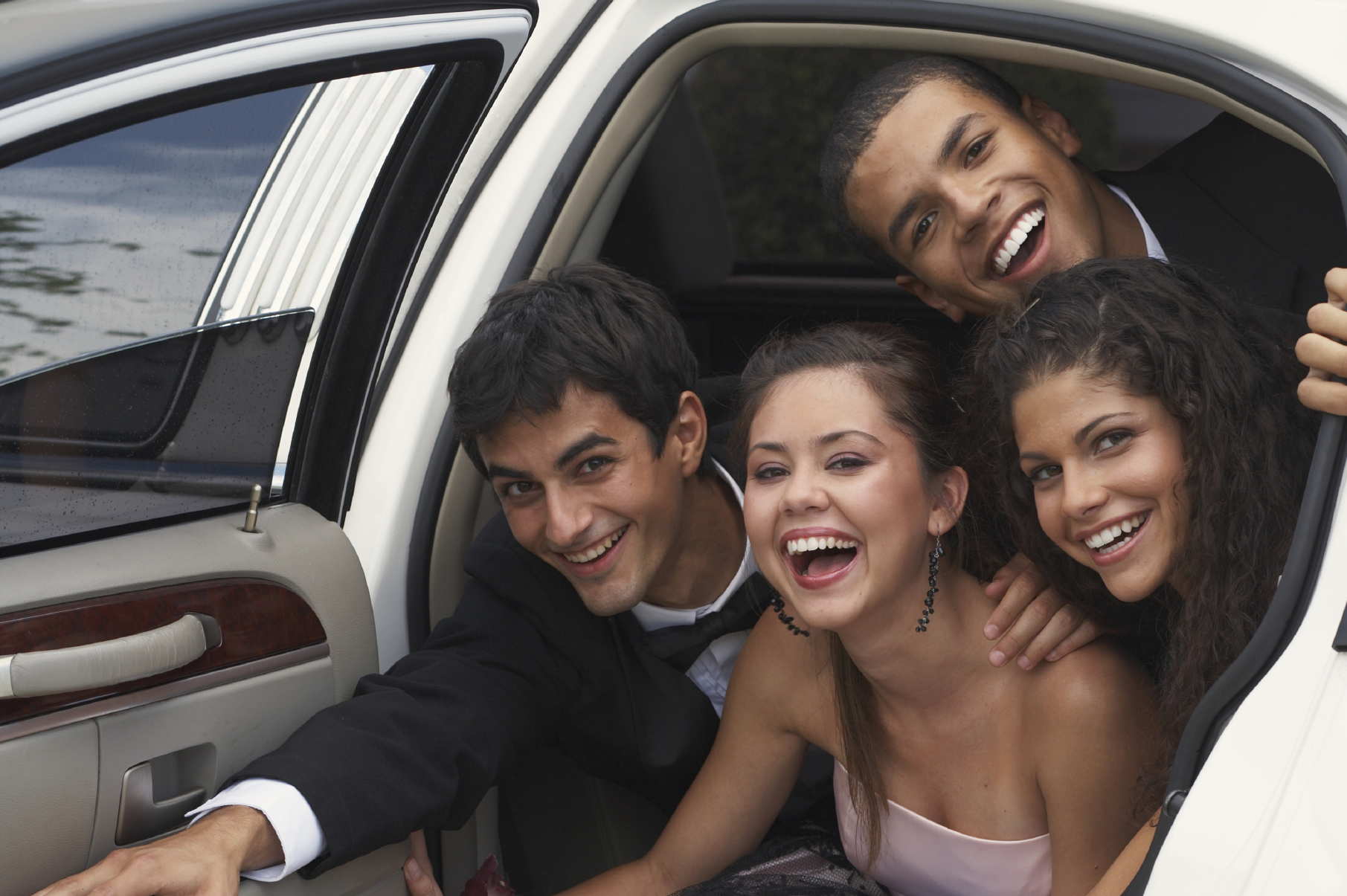 Arrive in style to your school formal in one of 2 B Chauffeured cars.