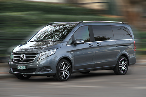 2 B Chauffeured fleet cars: Mercedes-Benz.